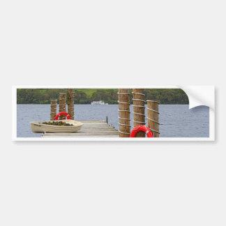 Duck Bay pier, Loch Lomond, Scotland Bumper Sticker