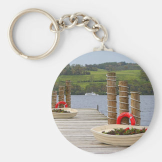 Duck Bay pier, Loch Lomond, Scotland Keychain