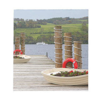Duck Bay pier, Loch Lomond, Scotland Notepad