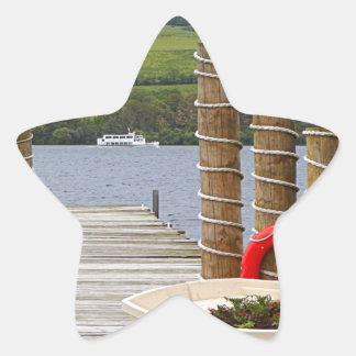 Duck Bay pier, Loch Lomond, Scotland Star Sticker