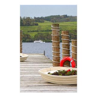 Duck Bay pier, Loch Lomond, Scotland Stationery
