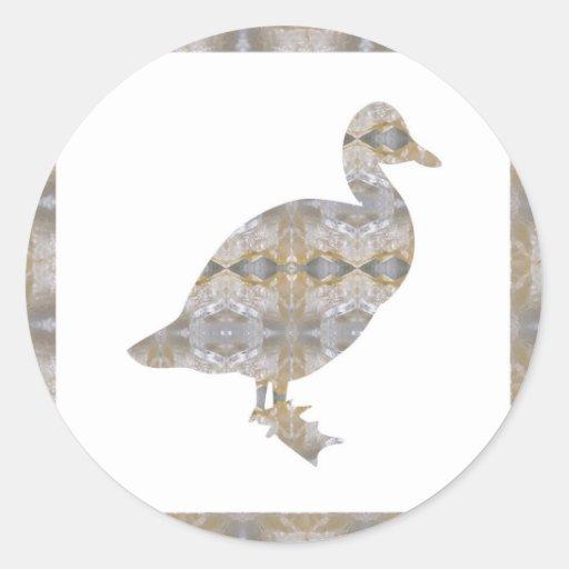 DUCK Bird CRYSTAL Jewel NVN455 KIDS LARGE fun gift Sticker
