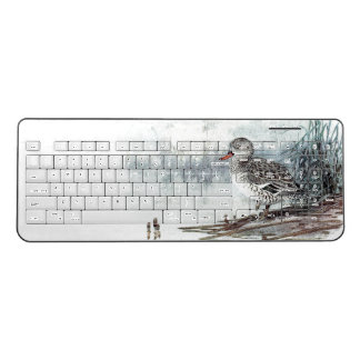 Duck Bird Wildlife Animal Pond Reeds Keyboard