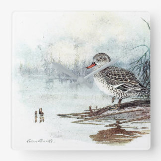 Duck Bird Wildlife Animals Pond Wall Clock
