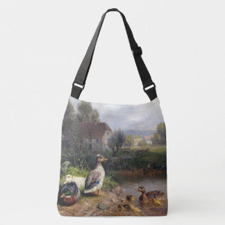 Duck Birds Wildlife Animals Pond Shoulder Bag Tote