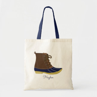 Duck Boot Personalized Tote Bag