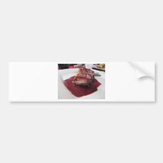 Duck breast on Sangiovese red wine sauce Bumper Sticker