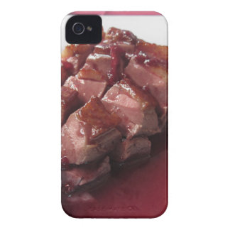 Duck breast on Sangiovese red wine sauce iPhone 4 Cover