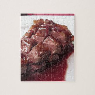 Duck breast on Sangiovese red wine sauce Jigsaw Puzzle