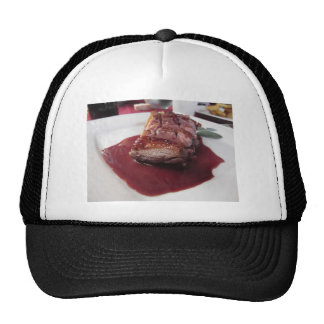Duck breast on Sangiovese red wine sauce Trucker Hat