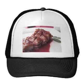 Duck breast on Sangiovese red wine sauce Trucker Hat