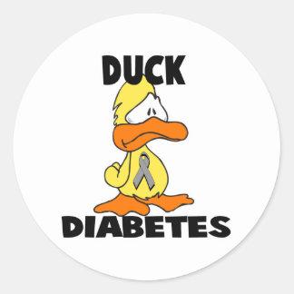 Duck Diabetes Classic Round Sticker