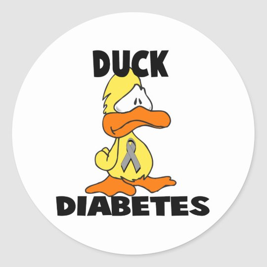 Duck Diabetes Classic Round Sticker