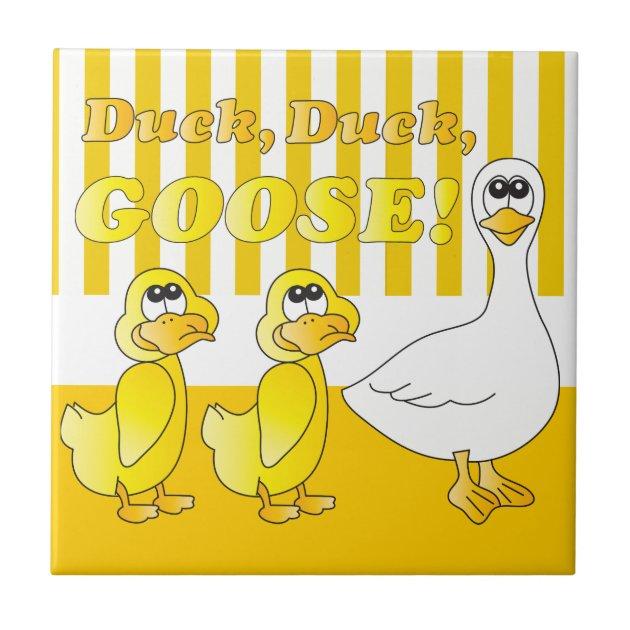 Duck Duck Goose Baby Nursery Theme Tile Zazzle Ca