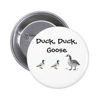 Duck Duck Goose Cartoon 2 Inch Round Button