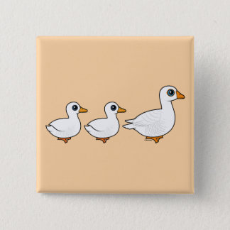 Duck Duck Goose Domestic 2 Inch Square Button
