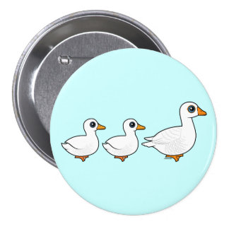 Duck Duck Goose Domestic 3 Inch Round Button