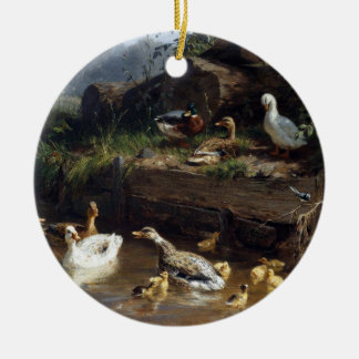 Duck Duckling Birds Pond Christmas Ornament