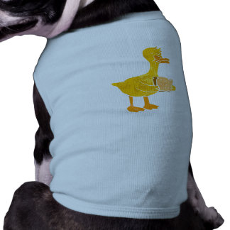 duck eating bread. pet clothes