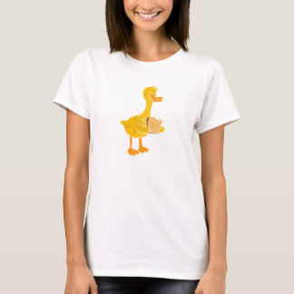 duck eating bread. T-Shirt