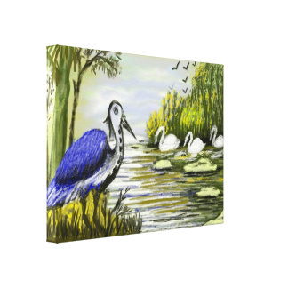 Duck Family Canvas Wrapped Canvas for Home decor Gallery Wrapped Canvas