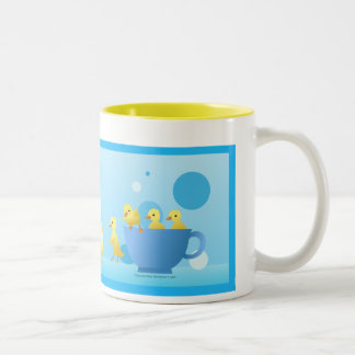 Duck family Two-Tone coffee mug