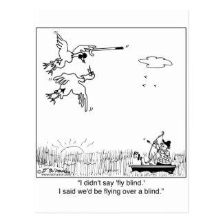 Duck Flying Blind Postcard