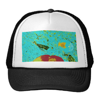 Duck Frog Peach and Fish Surreal Design Trucker Hat