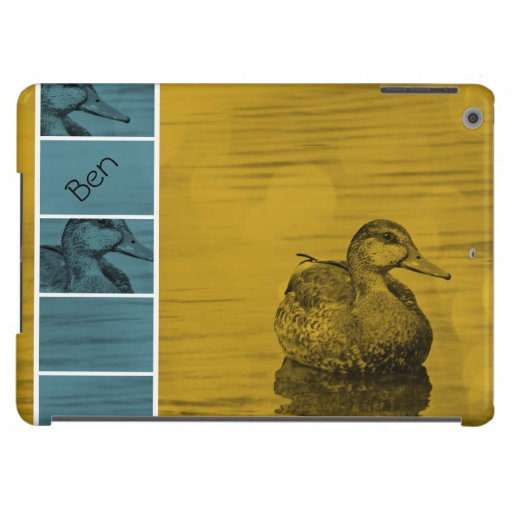 Duck-Gold and Blue iPad Air case *Personalize Case For iPad Air