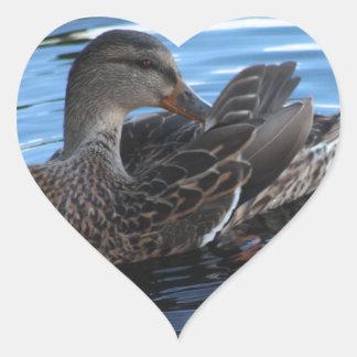 Duck Heart Sticker