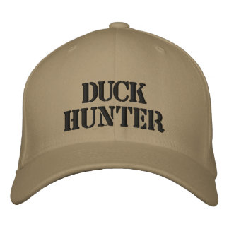 DUCK HUNTER EMBROIDERED HAT