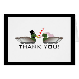 Duck Hunter Wedding Thank You Card