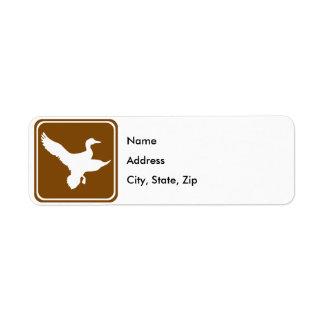 Duck Hunting Highway Sign (2) Return Address Label