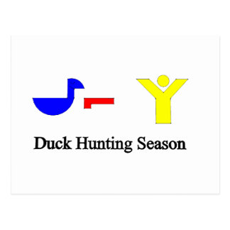 Duck Hunting Season Postcard