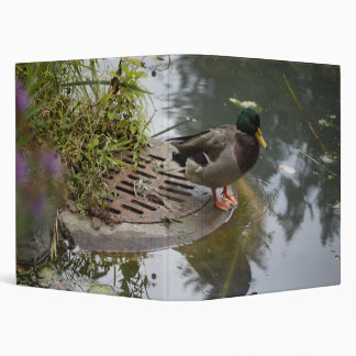Duck in a Pond 3 Ring Binder