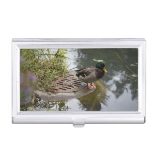 Duck in a Pond Business Card Holder