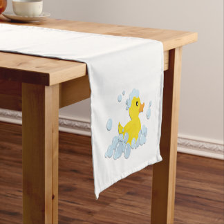 Duck in Bubbles Short Table Runner