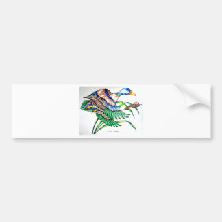 DUCK IN FLIGHT BUMPER STICKER
