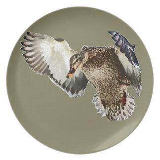 Duck in Flight Plate