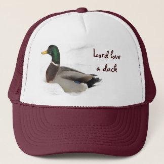 Duck in Snow Trucker Hat