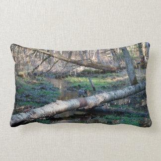 "Duck In The Woods, Lumbar Pillow 13""x21"""