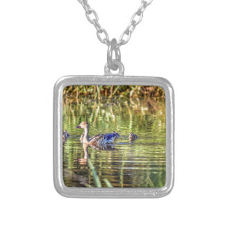 DUCK IN WATER AUSTRALIA ART EFFECTS SILVER PLATED NECKLACE