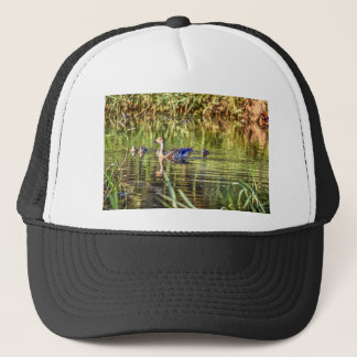 DUCK IN WATER AUSTRALIA ART EFFECTS TRUCKER HAT