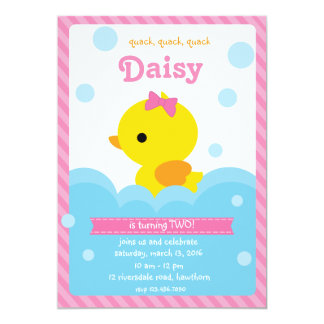 Duck Invitation / Rubber Duck Invitation