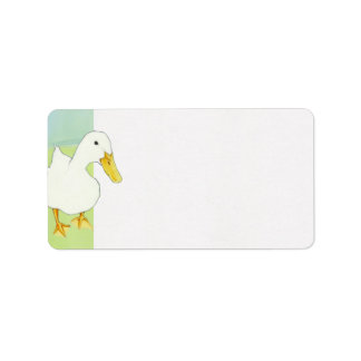Duck Kiss Address Label