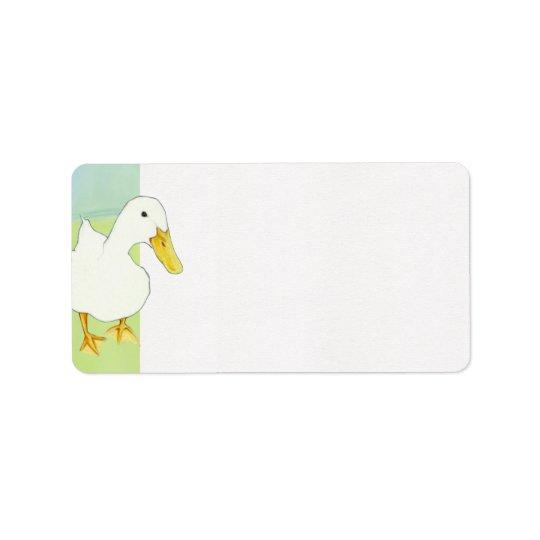 Duck Kiss Address Label