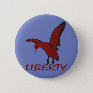 Duck liberty 2 inch round button