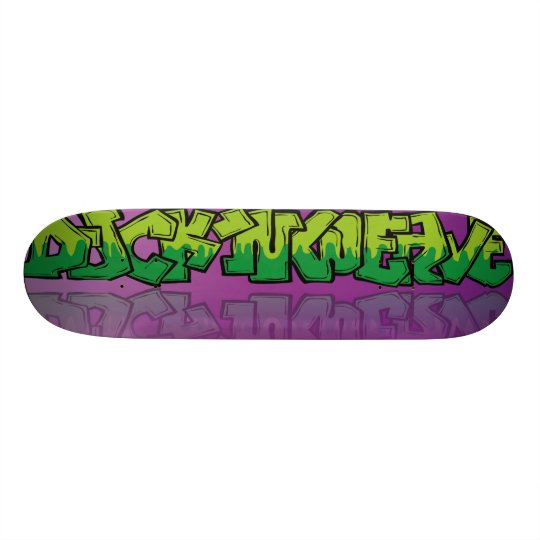 Duck,n Weave with street art style graphic. Skate Board Decks
