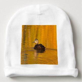 Duck on a golden pond baby beanie