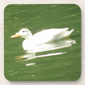Duck on the Water Cork Coaster